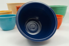 Vintage Fiesta Nesting Bowl Number Four in Cobalt For Sale