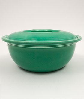 green medium Vintage dish fiesta casserole