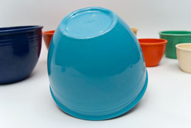 Vintage Fiesta Nesting Bowl Number Six in Turquoise For Sale