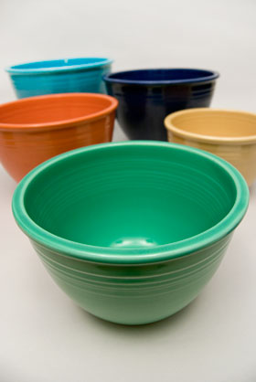 Fiesta No. 4 Green Bowl For Sale