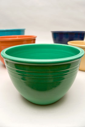 Vintage Fiesta Nesting Bowl Number Four in Green For Sale
