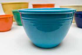 Vintage Fiesta Nesting Bowl Number Four in Turquoise For Sale