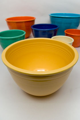 Vintage Fiesta Nesting Bowl Number Six in Yellow For Sale