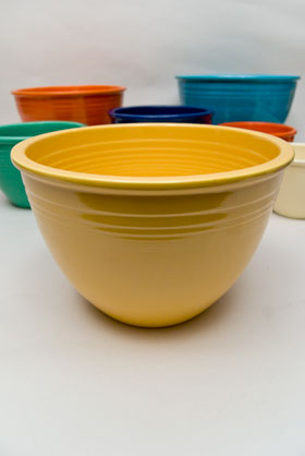 Vintage Fiesta Nesting Bowl Number Five in Yellow For Sale