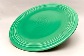 Original Green Fiesta Vintage 15 inch Chop Plate Fiestaware For Sale Old Authentic