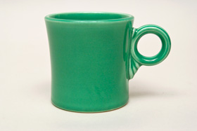 Vintage Fiestaware Green Tom and Jerry Mug: Fiesta Dinnerware 30s 40s 50s 60s For Sale