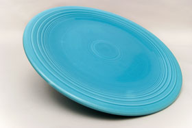 Original Turquoise Fiesta Vintage 15 inch Chop Plate Fiestaware For Sale Old Authentic