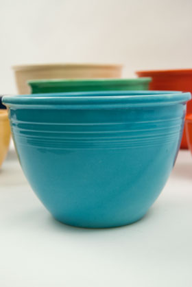 Fiesta Number Six Nesting Bowl Vintage Fiestaware Turquoise Bowl For Sale