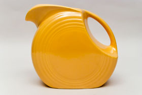 Vintage Fiestaware Disk Water Pitcher in Original Yellow Glaze
