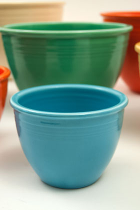 Vintage Fiesta Nesting Bowl Number One in Original Turquoise Glaze