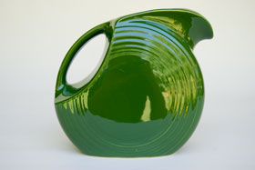 50s Colors Forest Green Fiesta Vintage Disk Water Pitcher Fiestaware For Sale Old Authentic