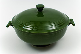 Original Dark Forest Green Fiesta Covered Casserole
