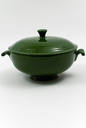 Original 50s forest Green Fiesta Covered Casserole