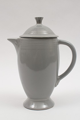 Vintage Fiesta Gray Coffeepot 50s Original Color Fiestaware Pottery Rare Hard to Find Antique for Sale