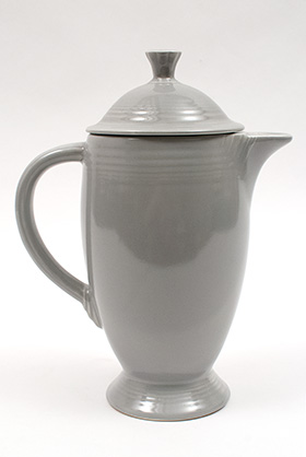 Rare Fiesta Vintage Gray Coffeepot 50s Fiestaware For Sale