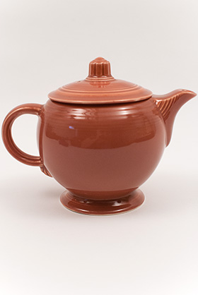 Vintage 50s Fiestaware Colors Rose Teapot For Sale: Vintage Fiestaware Teapot