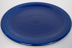 Original Cobalt Blue Vintage Fiesta 13 inch Chop Plate Fiestaware For Sale Old Authentic