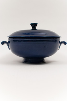 Cobalt Blue Fiesta Covered Casserole