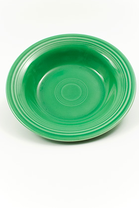Fiesta Green Deep Plate Original Vintage Fiestaware Pottery For Sale