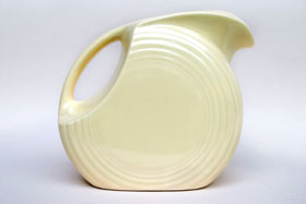 Vintage Fiestaware Disk Water Pitcher in Original Ivory Glaze