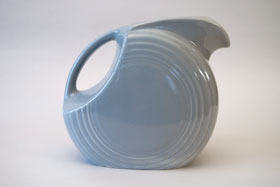 50s Colors Vintage Gray Fiesta Vintage Disk Water Pitcher Fiestaware For Sale Old Authentic