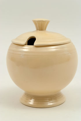 Vintage FIestaware: Original Ivory Fiesta Pottery Marmalade For Sale
