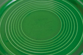 Medium Green Fiesta 9 inch Plate Fiestaware Pottery For Sale