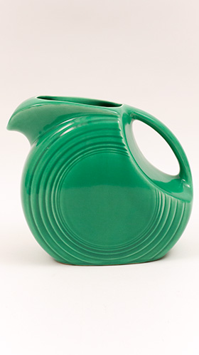 Original Green Fiesta Vintage Disk Water Pitcher: Fiestaware For Sale