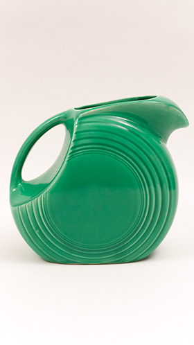 Vintage Fiesta Disk Water Pitcher in Original Light Green Glaze