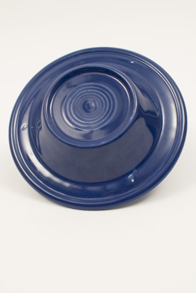 Vintage Fiesta Pottery Early Variation Ashtray in Original Cobalt Blue Glaze