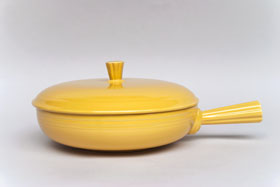 Vintage Fiesta Covered French Casserole in Yellow