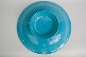 Vintage Fiesta Original Turquoise 12 Inch Footed Comport Bowl  Fiestaware Pottery Vase: Gift, Rare, Hard to Find, Buy Onlline Now, American Antique Pottery