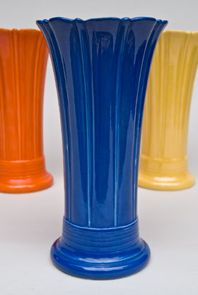 Vintage Fiesta 10 inch Original Cobalt  Fiestaware Pottery Vase: Gift, Rare, Hard to Find, Buy Onlline Now, American Antique Pottery