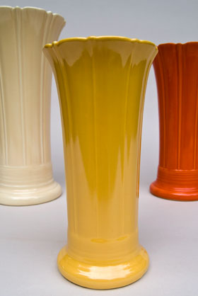 Vintage Fiesta 8 inch Original Yellow Fiestaware Pottery Vase: Gift, Rare, Hard to Find, Buy Onlline Now, American Antique Pottery