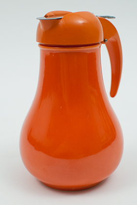Vintage Fiesta Radioactive Red Syrup Pitcher Dripcut Lid Original Old Antique Fiestaware Pottery