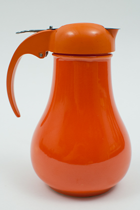 Rare Vintage Fiesta Radioactive Red Syrup Pitcher For Sale