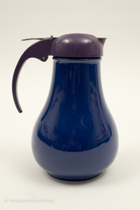 Rare Vintage Fiesta Cobalt Syrup Pitcher For Sale