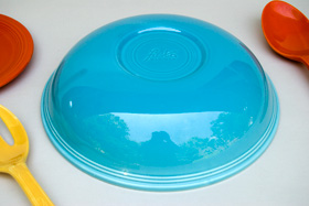 Vintage Fiesta 11 3/4 inch Fruit Bowl: Original Turuqoise Fiestaware For Sale Rare Gift Hard to Find 1930s 1940s