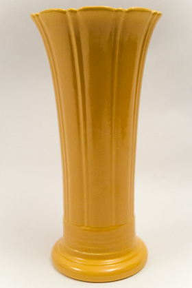 Vintage Fiesta 12 Inch Vase in Original Yellow Glaze