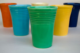 Fiesta Pottery For Sale Vintage Fiestaware Original Green Water Tumbler
