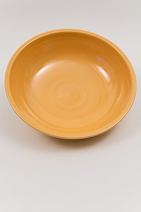 Vintage Fiesta 11 3/4 inch Fruit Bowl: Original Yellow Fiestaware For Sale Rare Gift Hard to Find 1930s 1940s