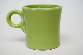 Vintage Fiestaware Chartreuse Tom and Jerry Mug: Fiesta Dinnerware 30s 40s 50s 60s For Sale