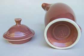 Vintage Fiesta 50s Color Rose Coffee Pot for Sale Buy Online Gift: Hard to Find Go-Along Fiestaware Pottery For Sale