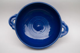 Vintage  Fiestaware Cobalt Blue Cream Soup Bowl: Fiesta Dinnerware 30s 40s 50s 60s For Sale