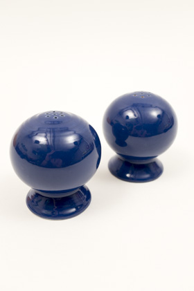 Vintage Fiestaware Bulb Candle Holders in Original Cobalt Blue Glaze