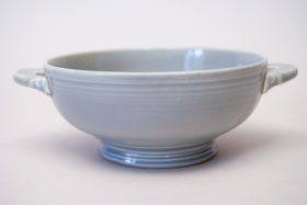 50s Fiestaware Gray Fiestaware Cream Soup Bowl