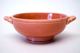 50s Fiestaware Rose Fiestaware Cream Soup Bowl