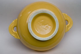 Vintage Fiestaware Yellow Cream Soup Bowl: Fiesta Dinnerware 30s 40s 50s 60s For Sale