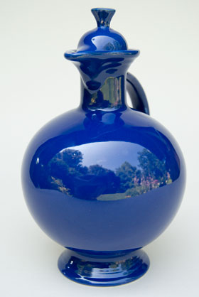 Vintage Fiesta Carafe in Original Cobalt: Fiestaware: Genuine, Old, Antique, For Sale, Gift
