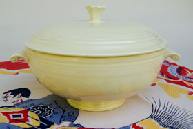 Ivory Fiesta Covered Casserole